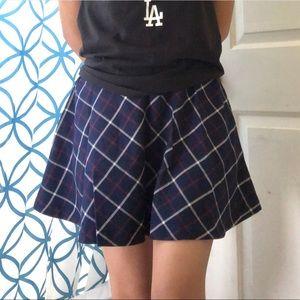 Plaid navy blue Forever21 Skirt
